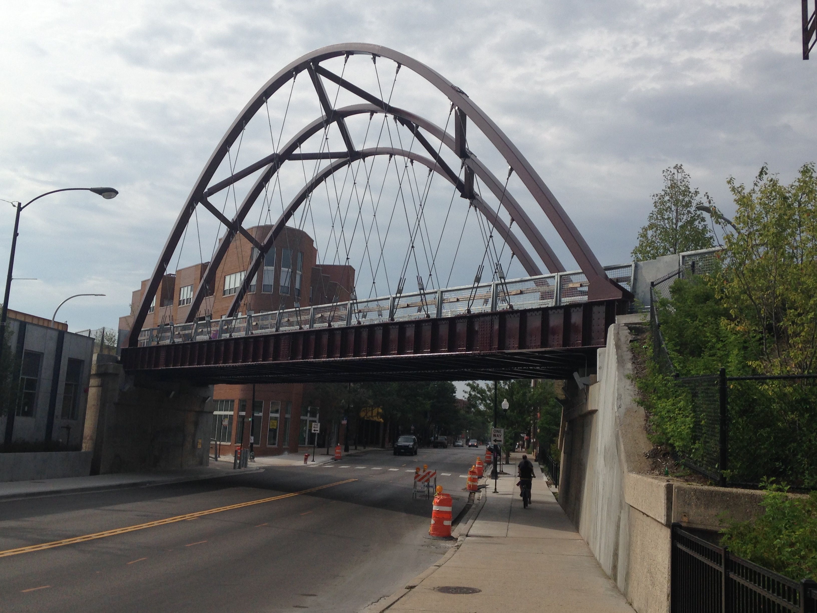 The 606 Trail over Milwaukee Ave.