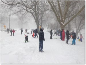 When the Snow Comes Down, New Yorkers Come Out to Play