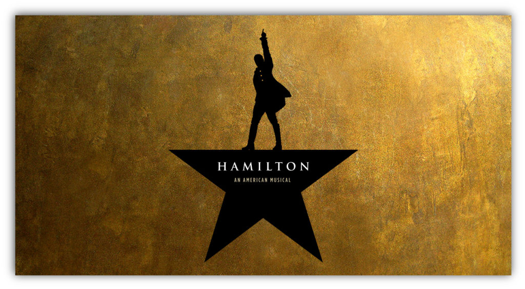 Promotional image for Hamilton the musical.